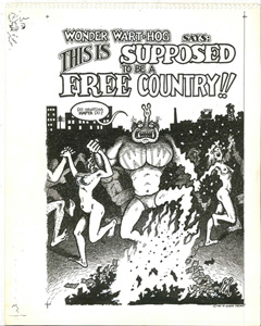 Couverture, Wonder Wart-Hog, this is supposed to be a free country