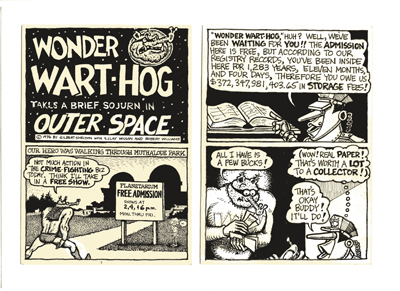 Wonder Wart-Hog takes a brief sojurn in outer space